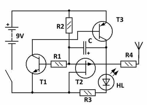 Искатель на трех транзисторах