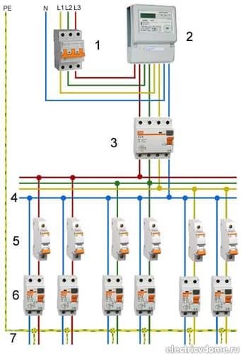 схема подключения аппаратов
