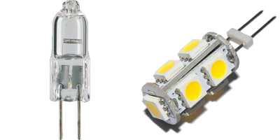 Галогенный и светодиодный источник