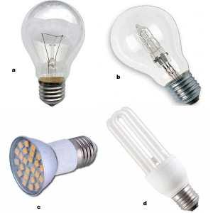 Виды ламп Е27