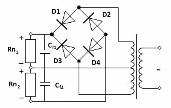 Пример преобразователя с двухполярным выходом