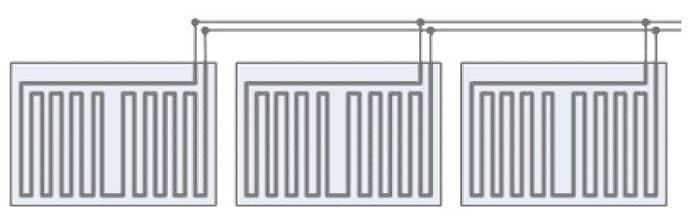 Схематическое изображение подключения фрагментов