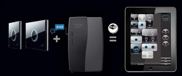 Сенсорный выключатель можно подключить в системе «умный дом»