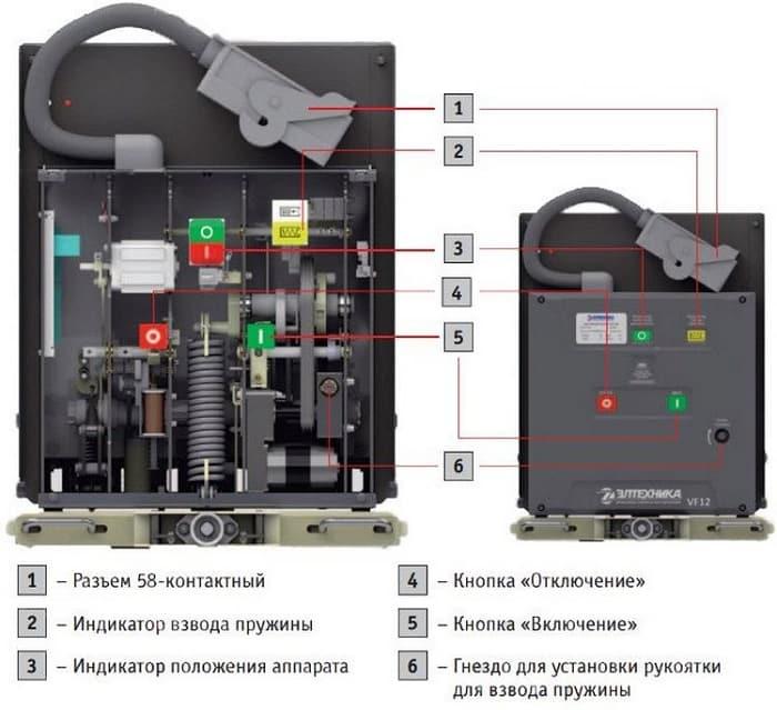 Схема привода вакуумного выключателя