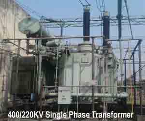 Однофазный трансформатор 400/220KV