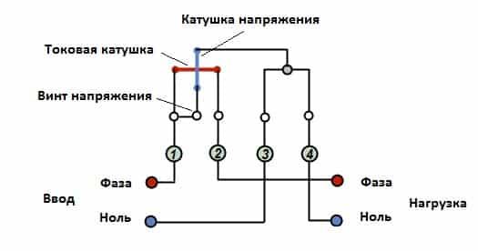 Подключение однофазного электросчетчика