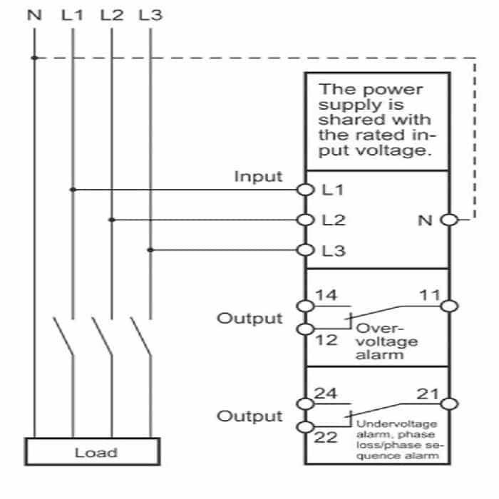 Схема подключения реле OMRON