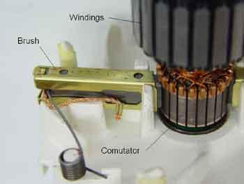 Щётки электродвигателя постоянного тока