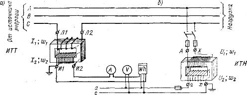 Схема измерительных трансформаторов
