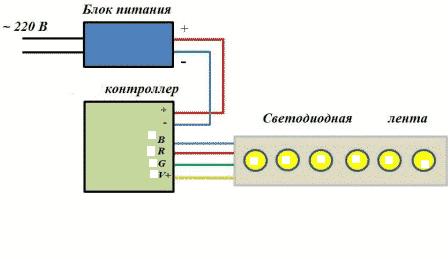 Схема последовательного включения