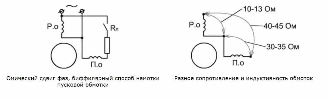 Схема с пусковым сопротивлением