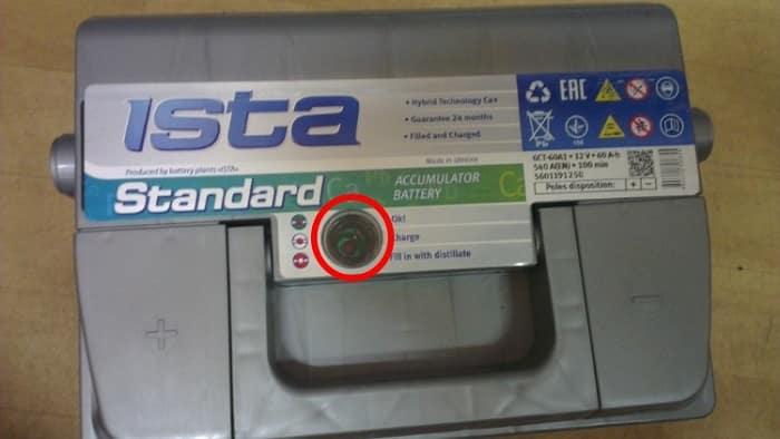 Аккумулятор ISTA c гидрометрическим индикатором