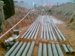 кабели в бетонных трубах
