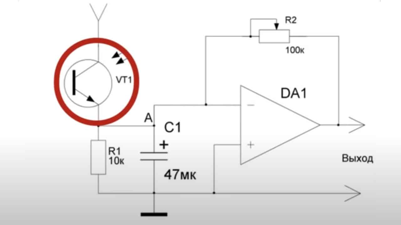 Схема датчика движения на основе транзистора