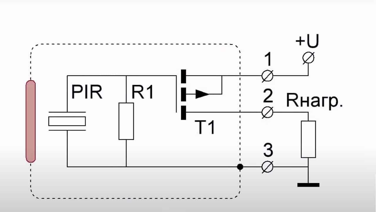 Схема датчика на пиромодуле