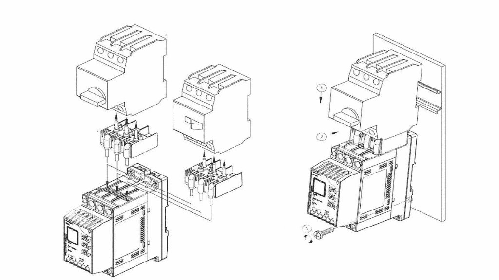 Устройство плавного пуска с отдельными контакторами