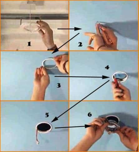 Как установить светильник своими руками