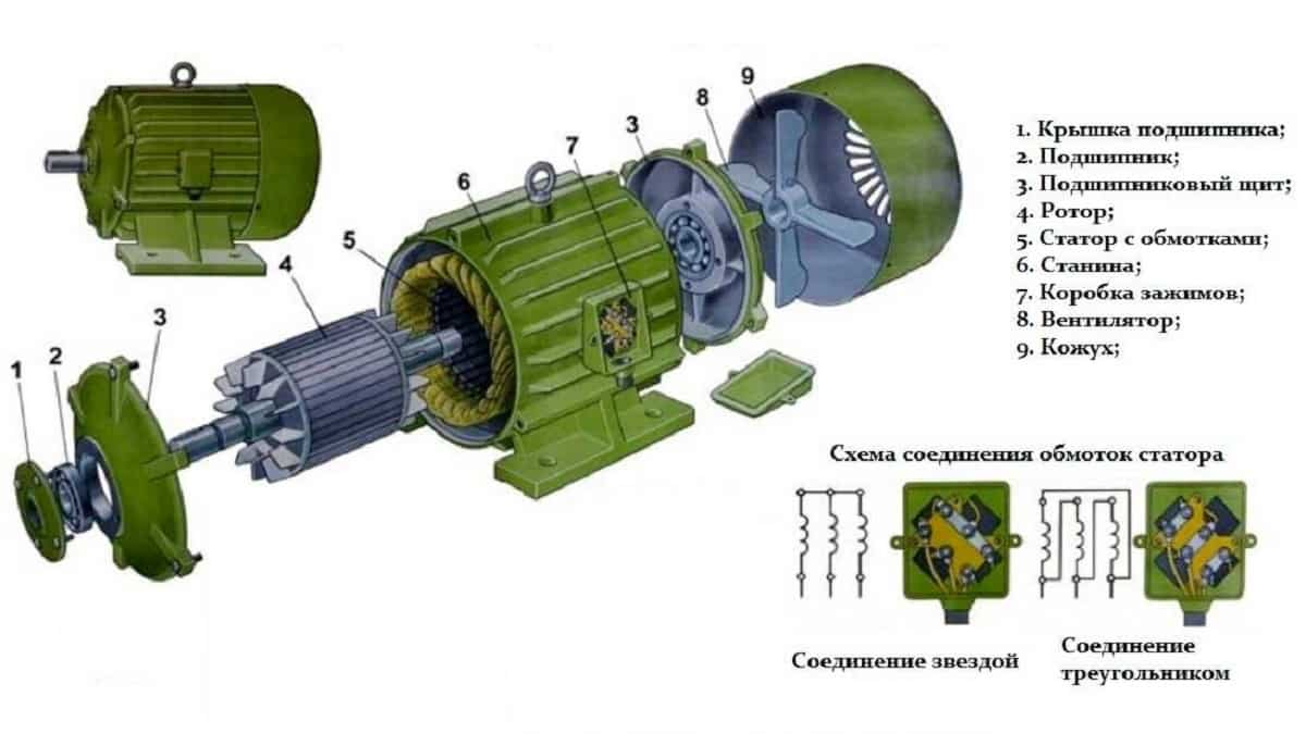 Конструкция электродвигателя АИР