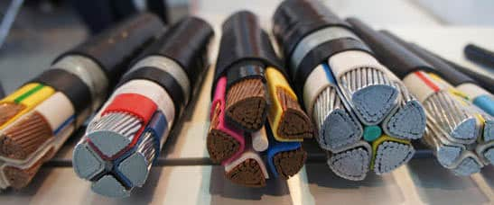 Сечения огнеупорных кабелей