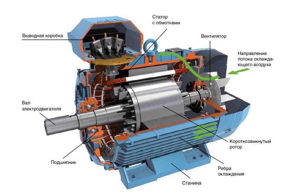 Электродвигатель с короткозамкнутым ротором