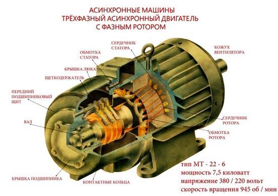 Конструкция трехфазного двигателя