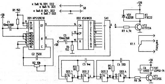 Схема кр512 ПС