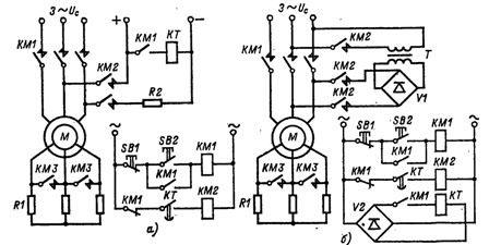 Управление торможением фазного двигателя