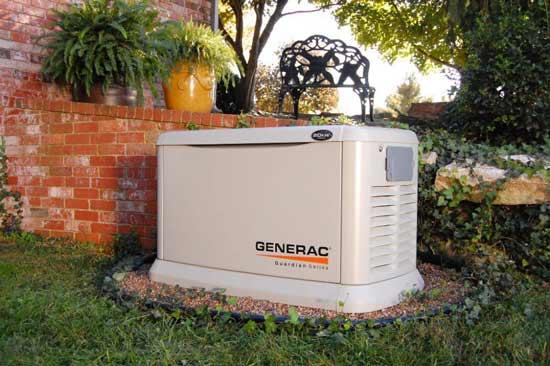 Газовый генератор во дворе