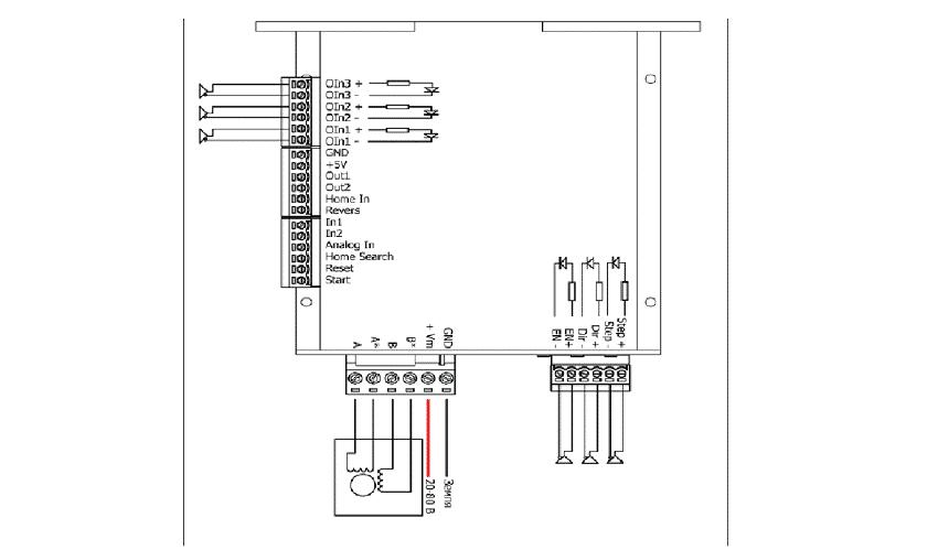 Управление от контроллера с дифференциальным выходом
