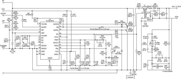 Схема цепи блока питания для светодиодной ленты