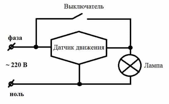 Схема установки датчика 2