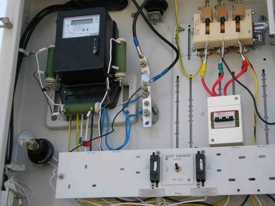 подвод электричества к участку
