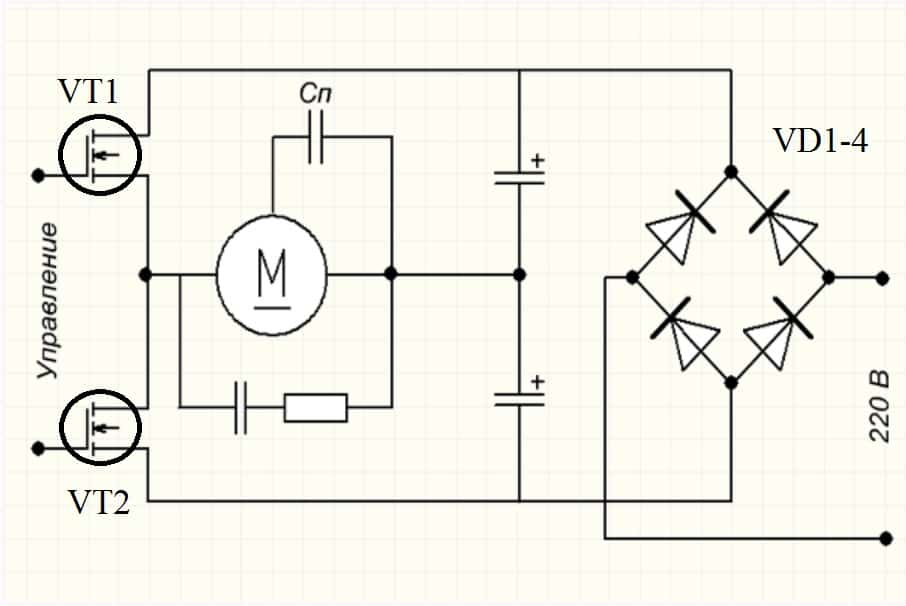 Регулировка оборотов на транзисторах