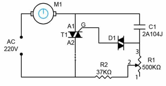 схема регулятора для коллекторного двигателя