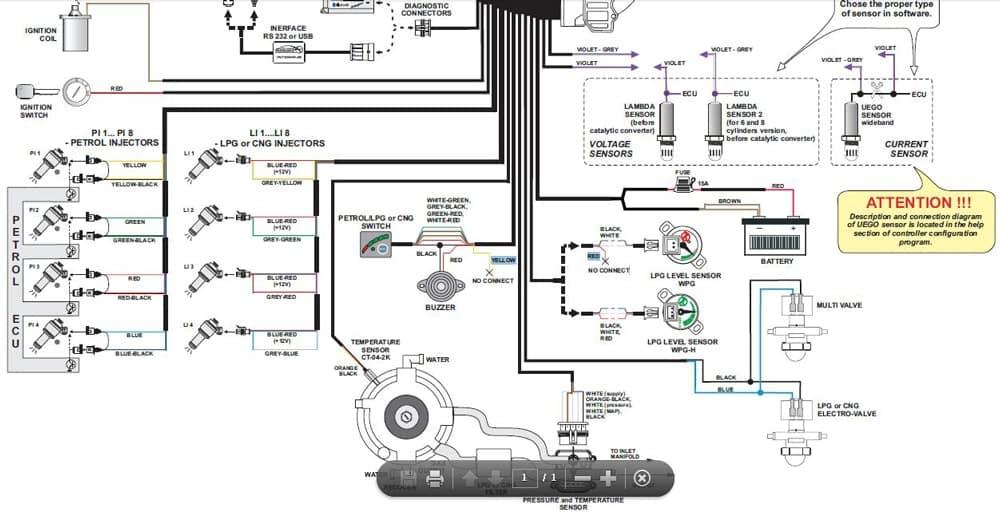 электрическая часть установки ГБО