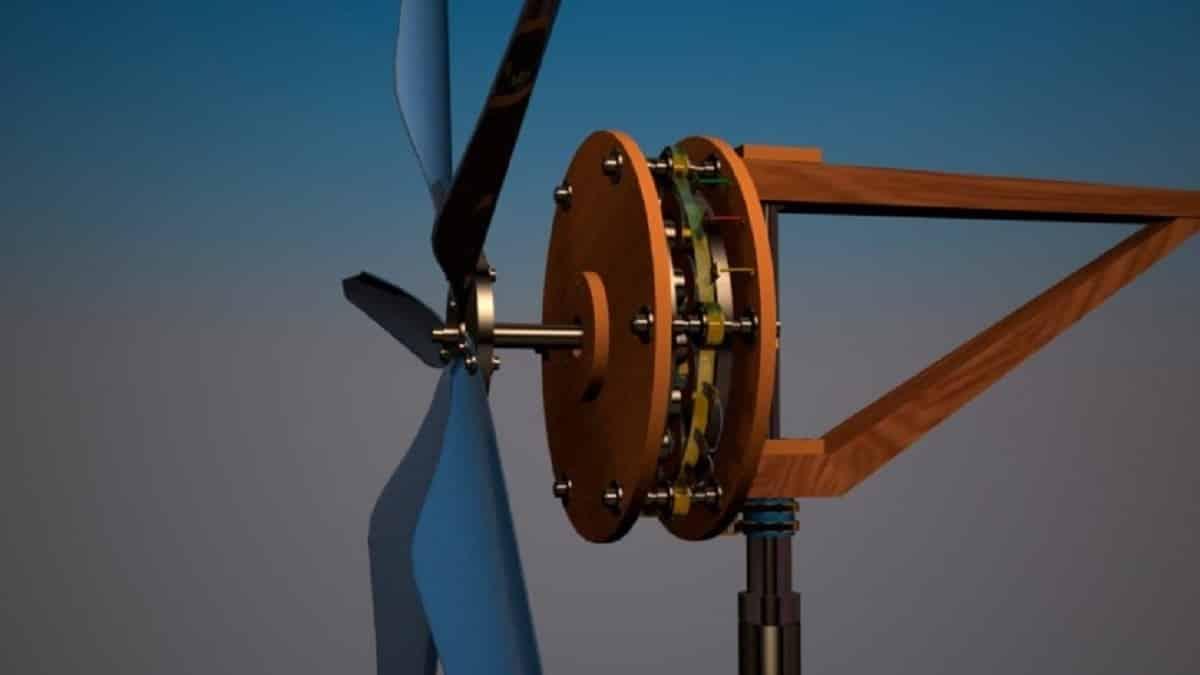 Конструкция самодельного ветрового генератора