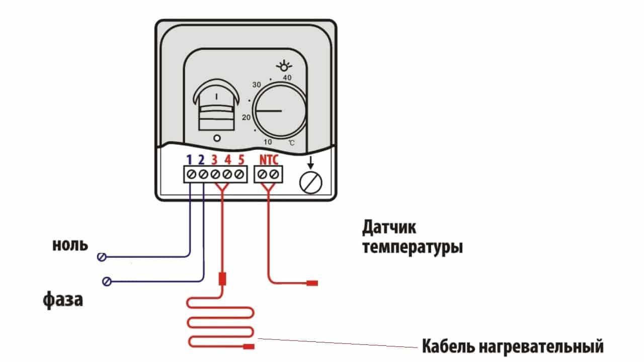 Подключение терморегулятора напрямую