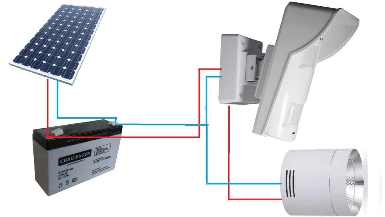 Схема подключения с солнечной батареей