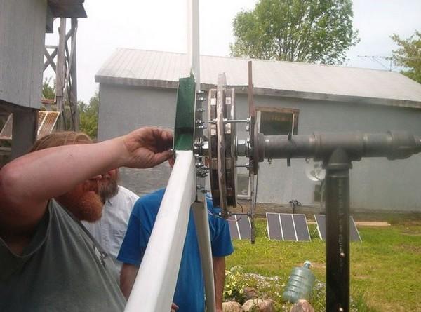 установка ветрогенератора