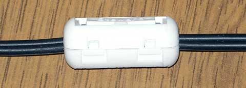 Фильтр на основе ферритового кольца от кабеля монитора