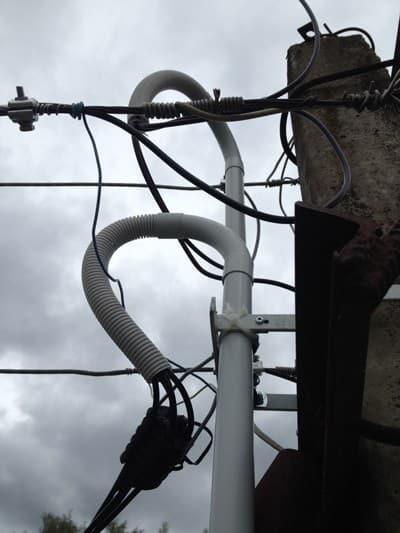 кабель СИП на воздушной линии