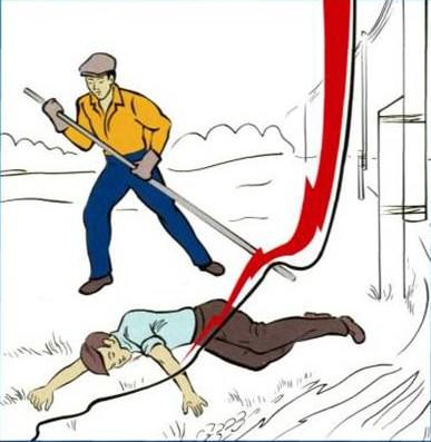 памятка БЖД по спасению человека в зоне шагового напряжения