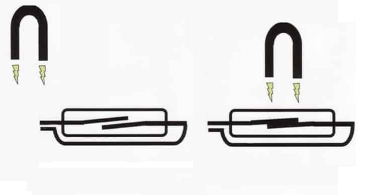 Принцип работы нормально-разомкнутого геркона