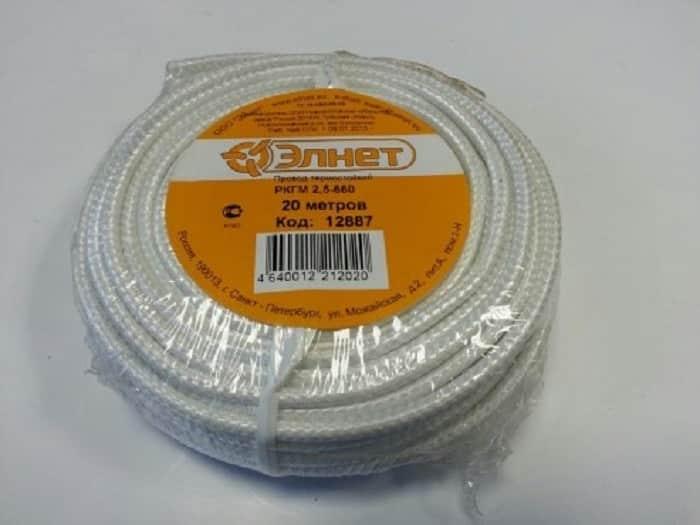 Бухта провода РКГМ с полиэтиленовой упаковкой для магазинной розничной продажи
