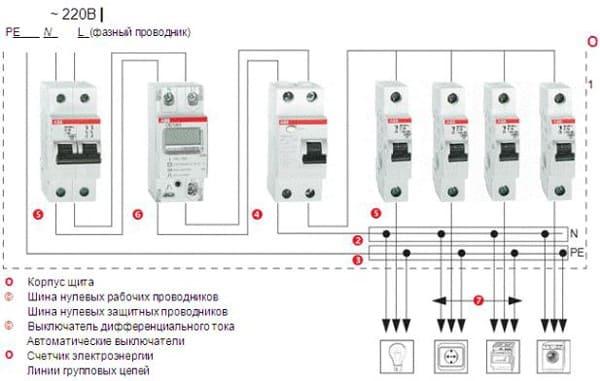 подключение двухполюсного выключателя