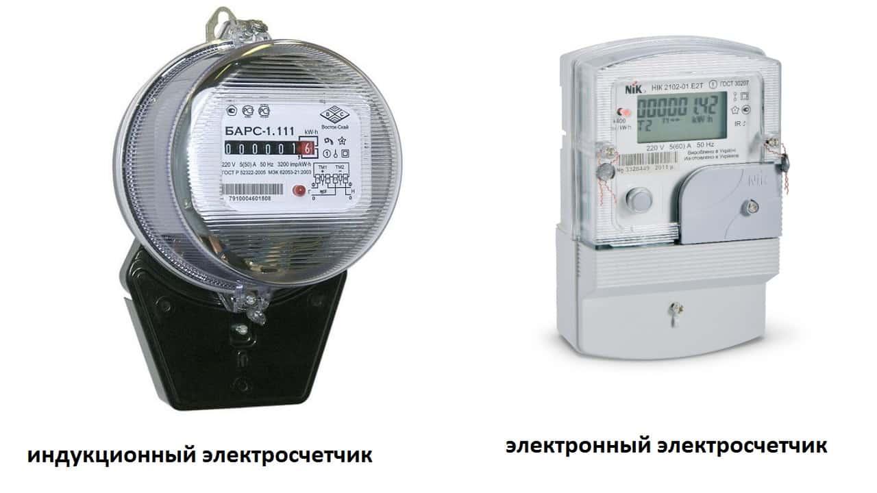 Индукционный и электронный электросчетчик