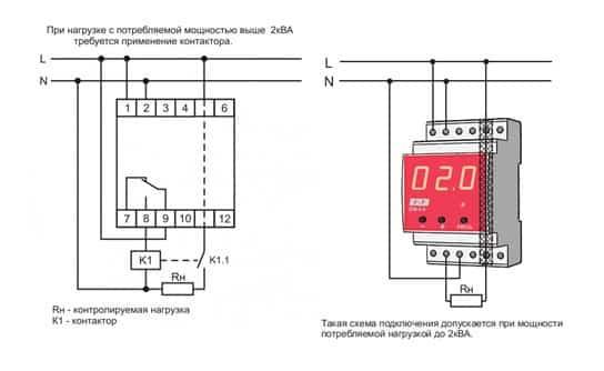 схема подключения ОМ 1-3