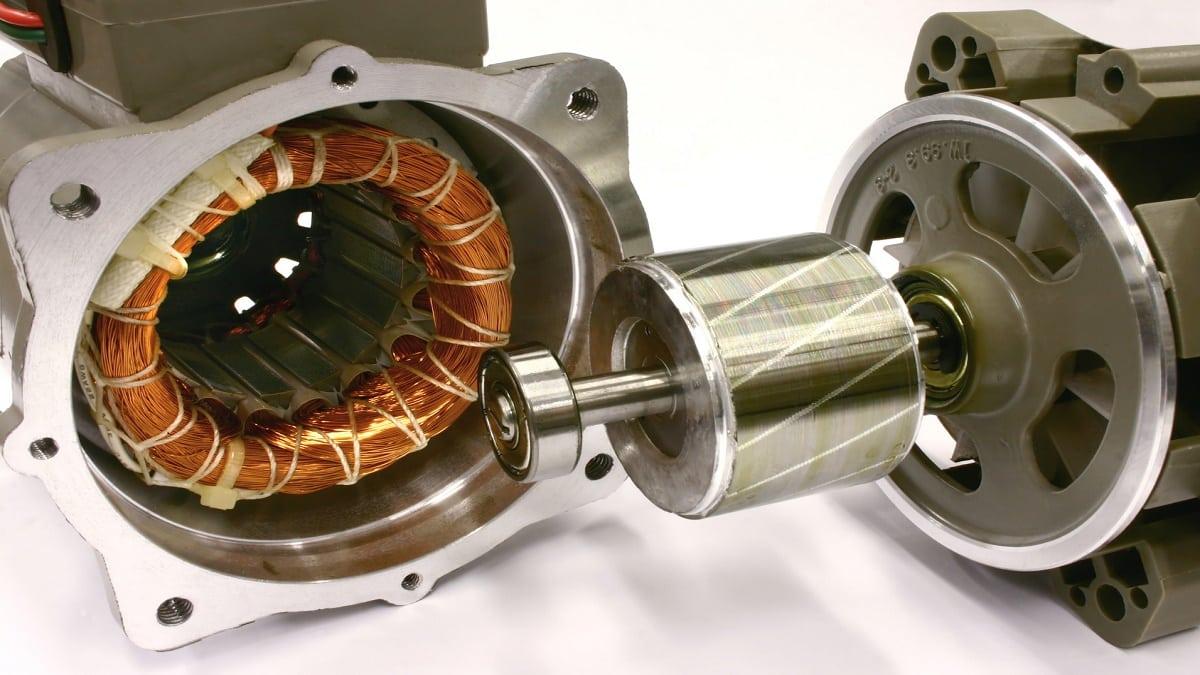 Ротор и статор асинхронного генератора