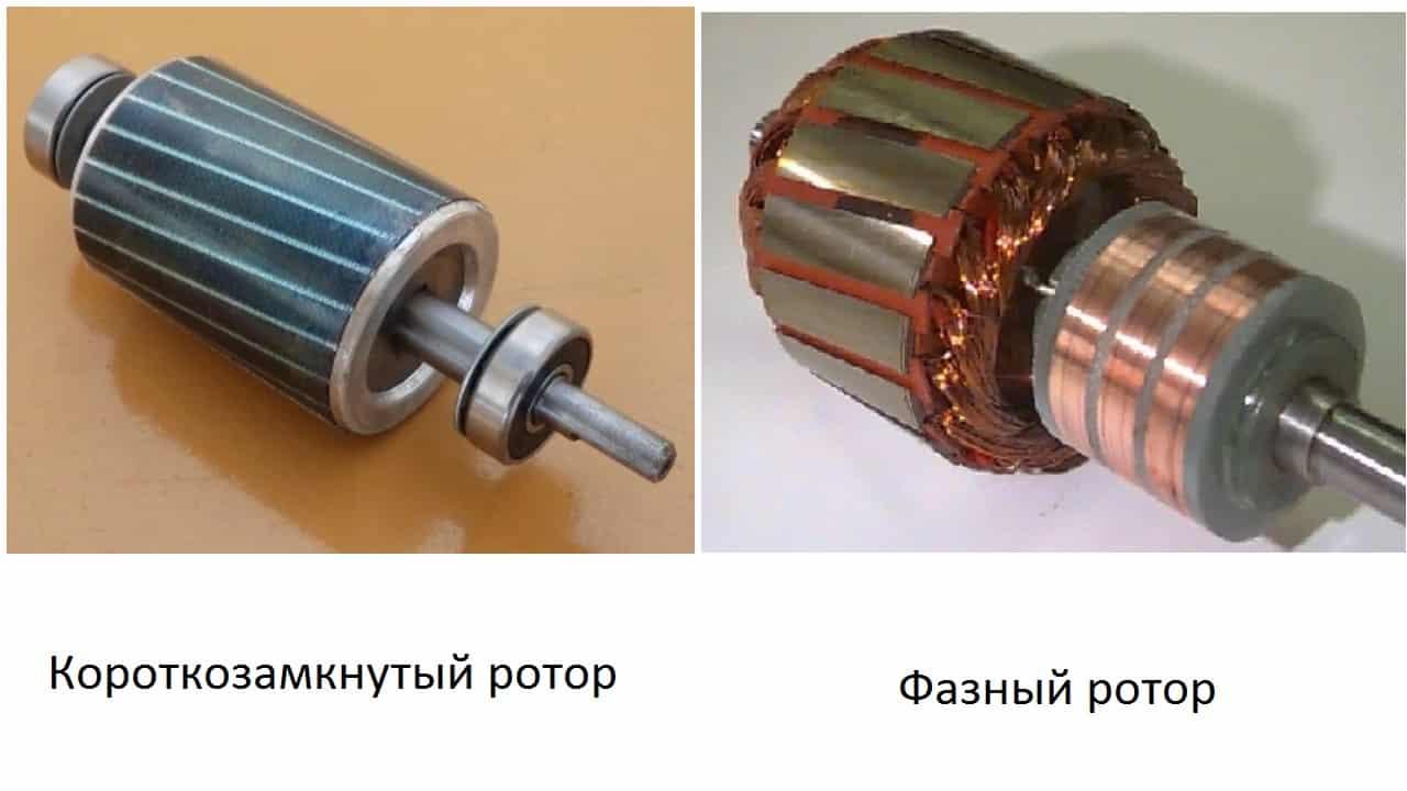 асинхронный двигатель с короткозамкнутым и с фазным ротором