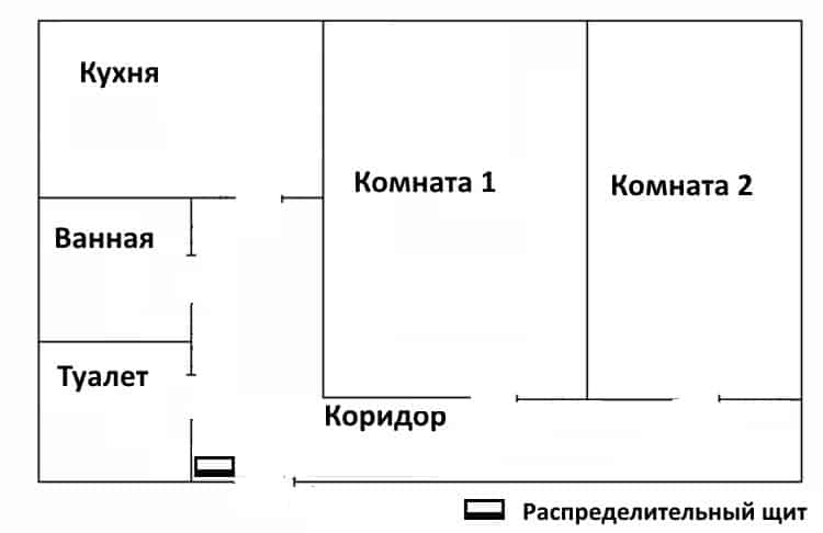 «Чистый» план квартиры